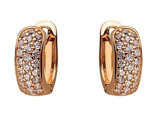 Золоті сережки з цирконієм куб. 01-17604143 фотографія