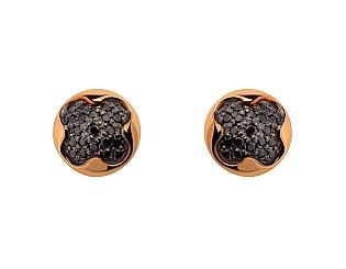 Золоті сережки з фіанітами 10с-163 фотографія