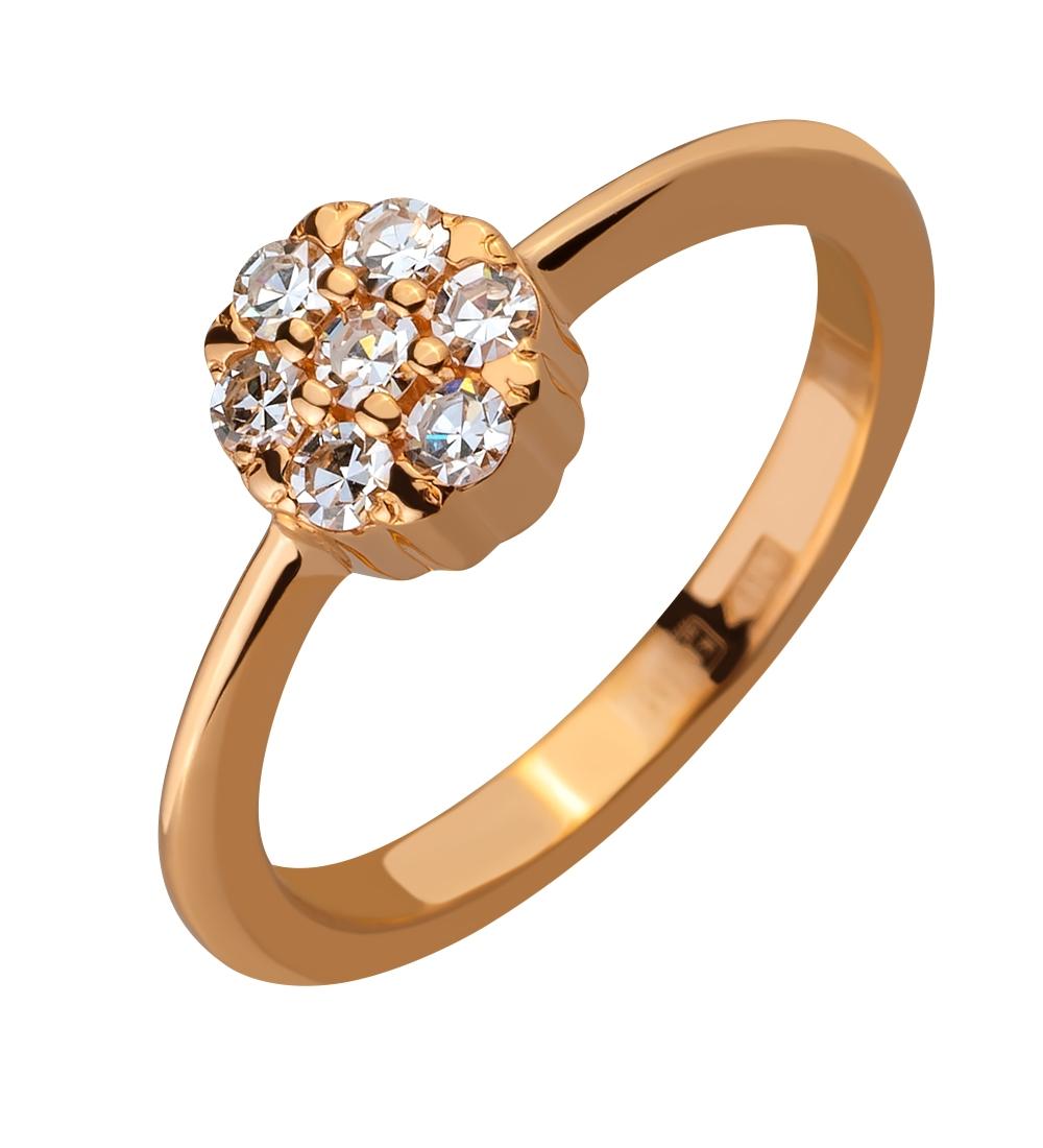 bbb9b9c1892731 Золота каблучка з діамантами (1б_к-055/169): купити за ціною 7517.00 ...