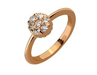 Золота каблучка з діамантами 1б_к-055 фотографія