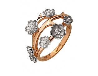 Золотое кольцо с циркониями 4б_к-119 фотография