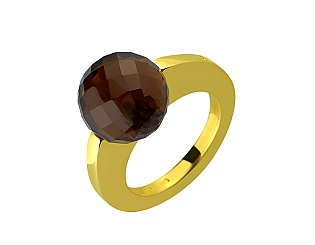 Золота каблучка з кварцами 01-17511044 фотографія