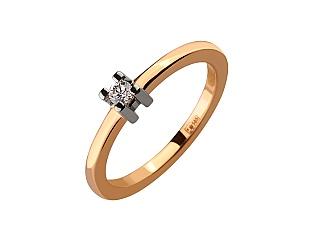 Золотое кольцо с бриллиантом 01-17586544 фотография