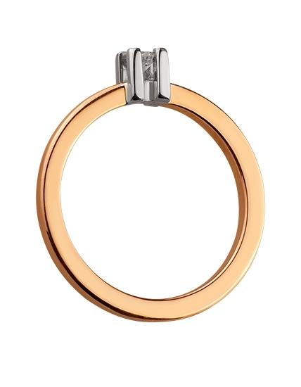 Золота каблучка з діамантом 01-17586544 фотографія 2