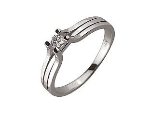 Золота каблучка з діамантом 01-17604144 фотографія
