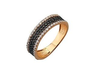 Золота каблучка з цирконієм куб. 01-17642544 фотографія