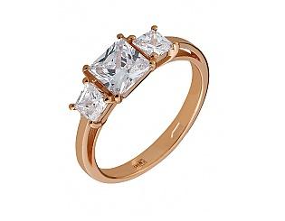 Золотое кольцо с фианитами и циркониями 1б_к-105 фотография