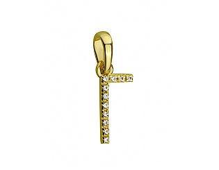 Золотий кулон з фіанітами 3б_п-118 фотографія