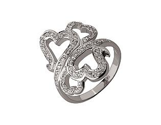 Золотое  кольцо с бриллиантом 01-17624645 фотография