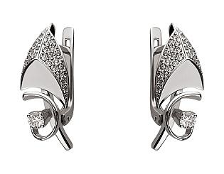 Золоті сережки з діамантами 01-17656445 фотографія