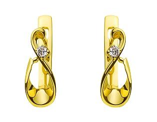 Золотые серьги с бриллиантами 3с-026 фотография
