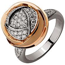 Золота каблучка з діамантами (4б_к-203)