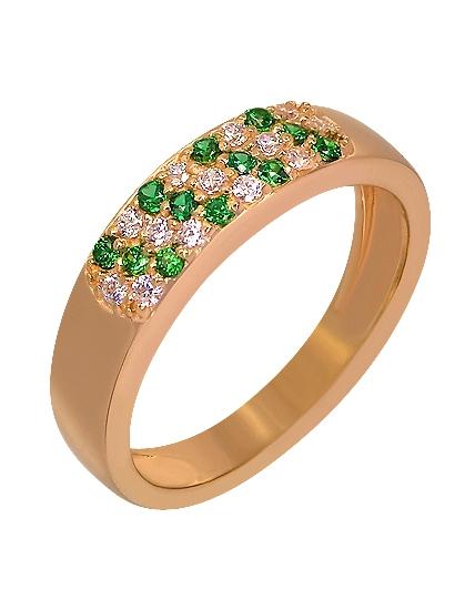 """Золотое кольцо 585 пробы c фианитами (15-000076208) """"Ювелирная карта"""""""
