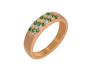 Золотое кольцо с циркониями и фианитами 1б_к-057 фотография