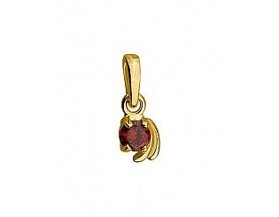Золотий кулон з цирконіями 3п-161 фотографія