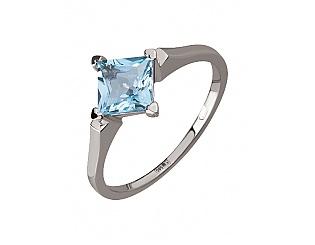 Золотое кольцо с топазом 2б_к-104 фотография
