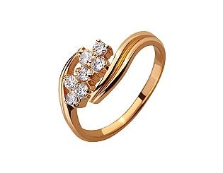 Золотое кольцо с цирконием куб. 01-17520146 фотография