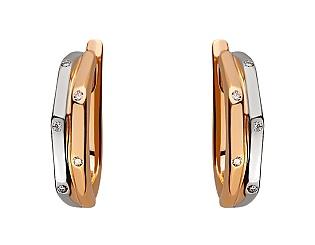 Золотые серьги с бриллиантом 01-17656546 фотография