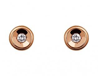 Золоті сережки з діамантами 1б_с-077 фотографія