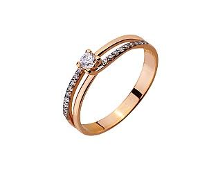 Золотое кольцо с фианитом 01-17420447 фотография
