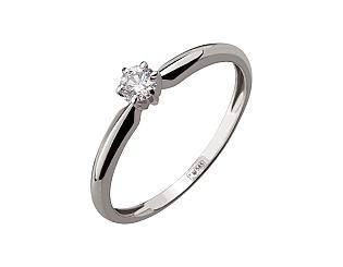 Золотое кольцо с бриллиантом 01-17539747 фотография
