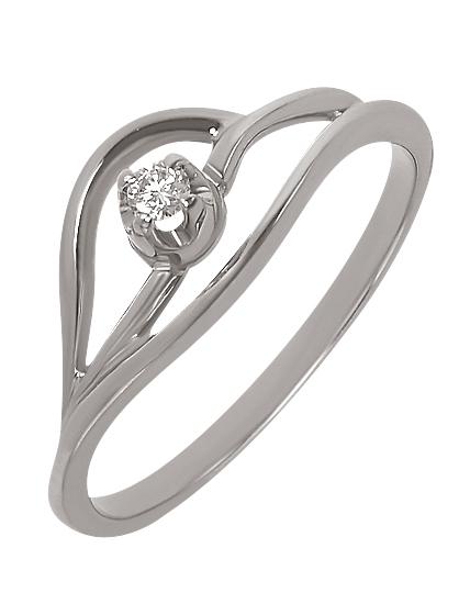 Золота каблучка з діамантами 2-к-1004 фотографія