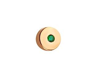 Золотой кулон с фианитом 1п-182 фотография