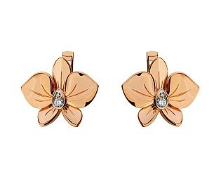 Золоті сережки з діамантами 8б_с-150 фотографія