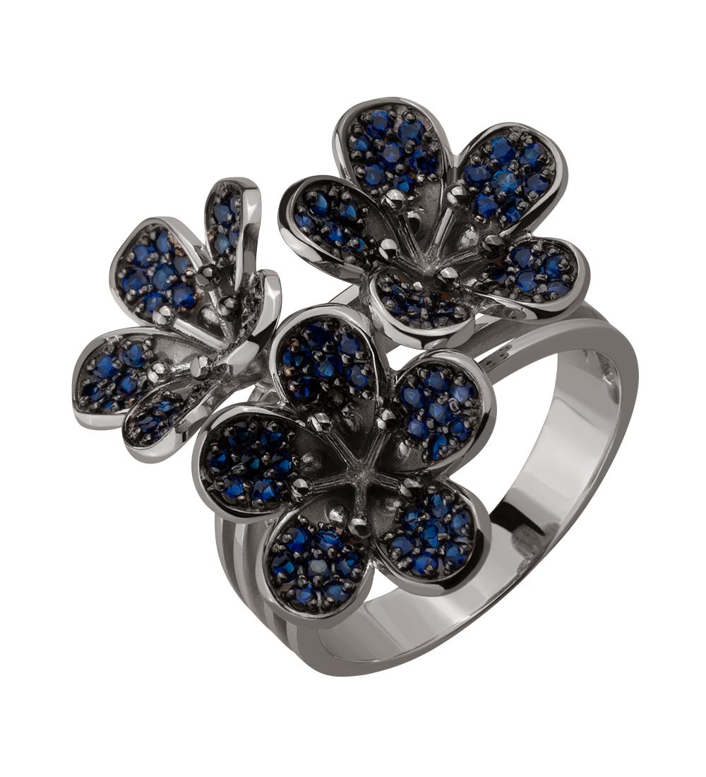 Золотое кольцо с сапфирами (15-000118048)