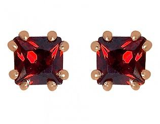 Золотые серьги с фианитом 1с-146 фотография