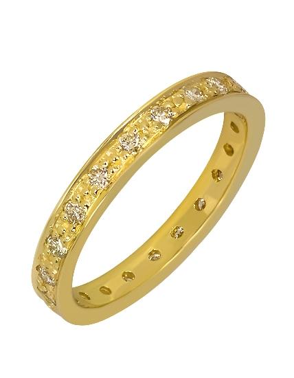 """Золотое обручальное кольцо 585 пробы с бриллиантами (15-000086865) """"Ювелирная карта"""""""