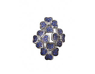 Золотой кулон с сапфирами и бриллиантами 11б_п-016 фотография