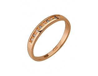 Золота каблучка з цирконіями 1к-183 фотографія