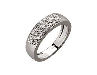 Золотое кольцо с циркониями 2б_к-057 фотография