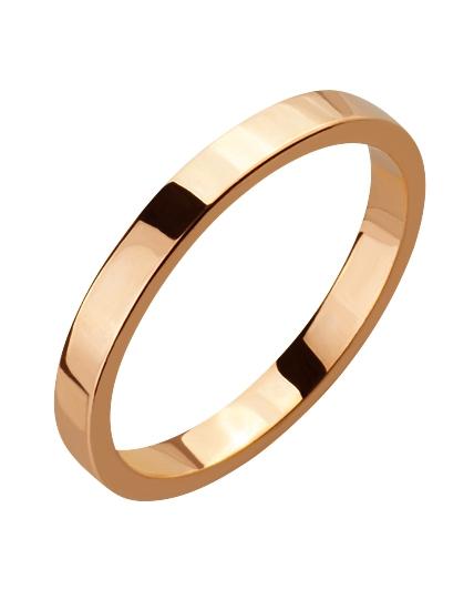 """Золотое обручальное кольцо 585 пробы (15-000086026) """"Ювелирная карта"""""""