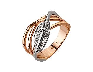 Золотое кольцо с фианитом и цирконием куб. 4б_к-139 фотография