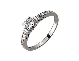 Золотое кольцо с цирконием куб. 01-17578948 фотография