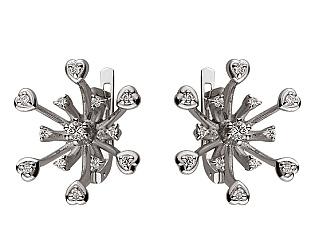 Золоті сережки з діамантами 01-17586548 фотографія