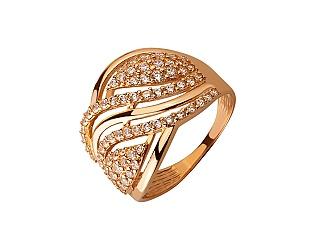 Золота каблучка з цирконієм куб. 01-17620848 фотографія