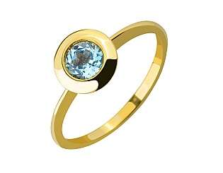 Золотое кольцо с топазом 3б_к-108 фотография