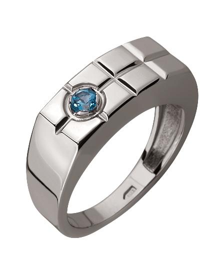 Золотой перстень 585 пробы с топазом (15-000069649)