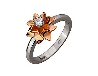 Золотое кольцо с бриллиантом 4б_к-122 фотография
