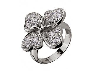 Золотое кольцо с фианитом 2б_к-041 фотография