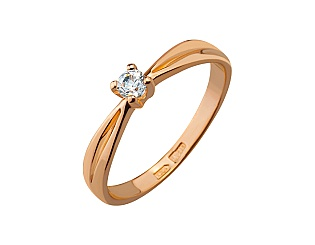 Золотое кольцо с фианитами 01-17209549 фотография
