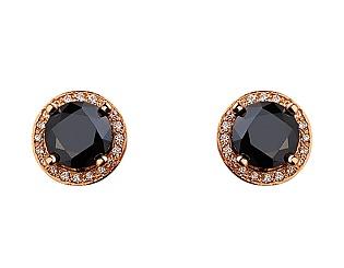 Золоті сережки з цирконієм куб. 01-17624649 фотографія