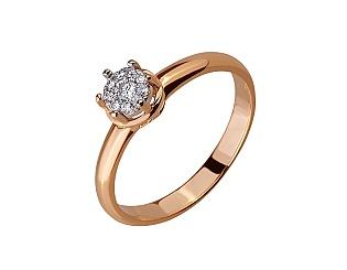 Золота каблучка з діамантами 01-17656549 фотографія