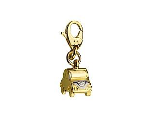 Золотий кулон з фіанітом 9б_п-149 фотографія