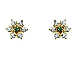 Золоті сережки з топазом і фіанітом 3б_с-064 фотографія