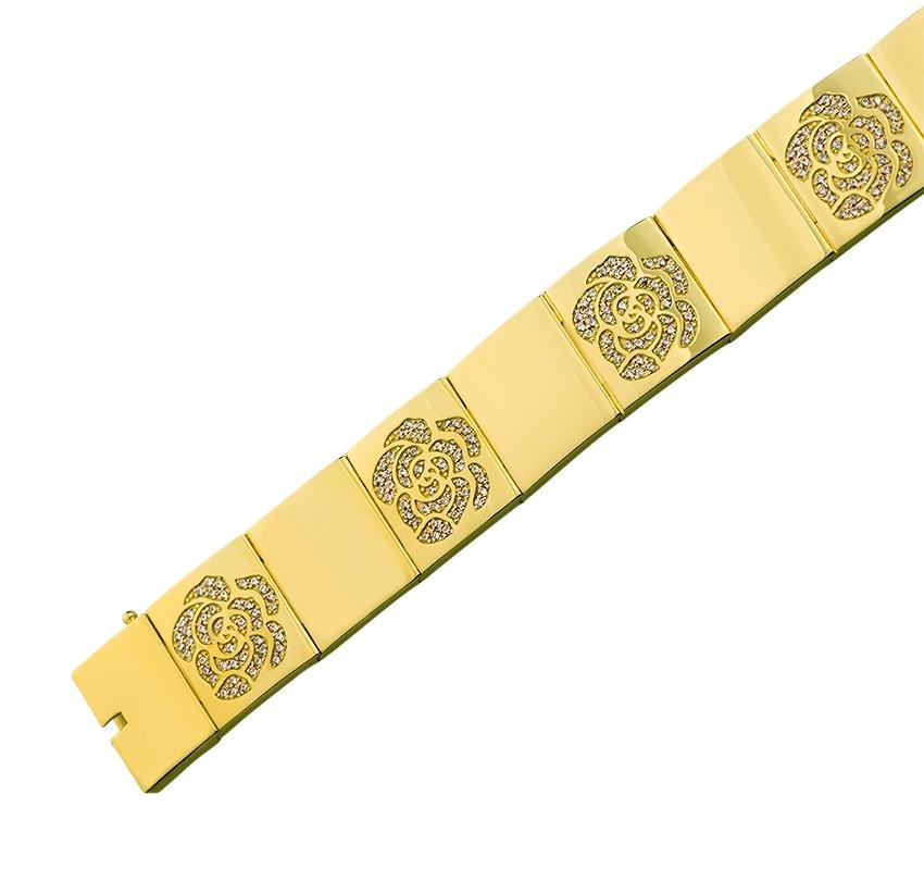 Золотой браслет с фианитом 3б_б-034 фотография 1
