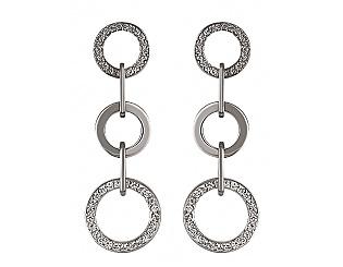 Золоті сережки з діамантами 2с-169 фотографія